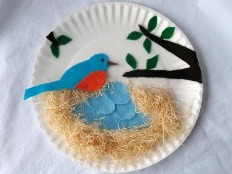 paper plate spring craft EWncCB1s